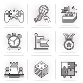 Flat Line Icons Set