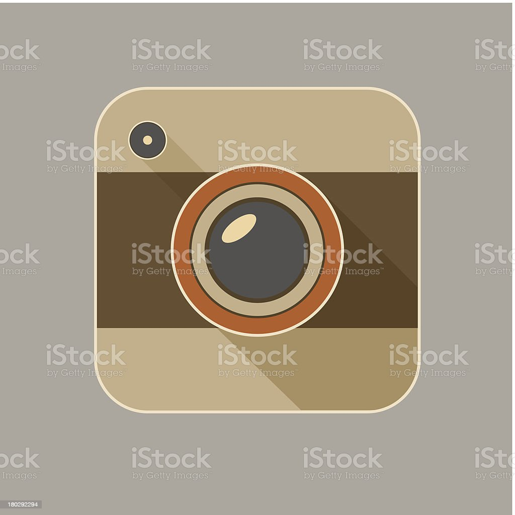 Flat long shadow camera icon royalty-free flat long shadow camera icon stock vector art & more images of business