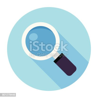istock Flat Magnifier Icon 501279445
