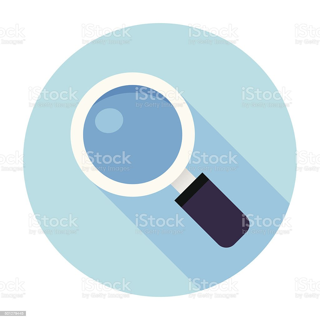 Flat Magnifier Icon vector art illustration