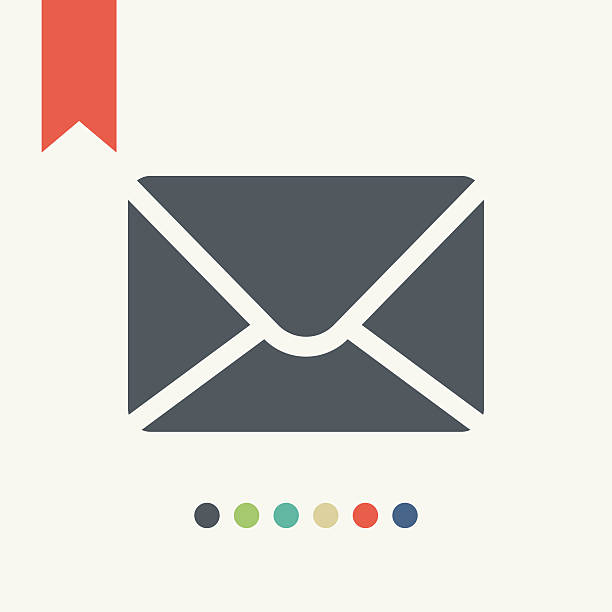flat mail icon - email icon stock illustrations, clip art, cartoons, & icons