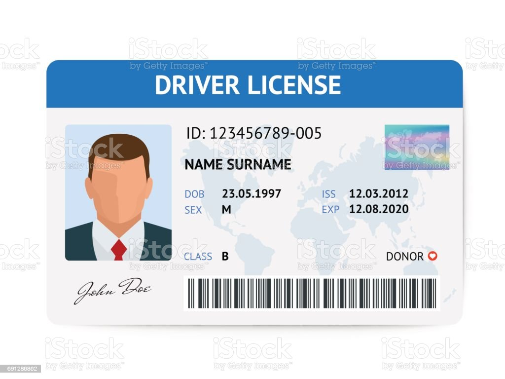 Flat man driver license plastic card template id card vector flat man driver license plastic card template id card vector illustration royalty free stock pronofoot35fo Image collections