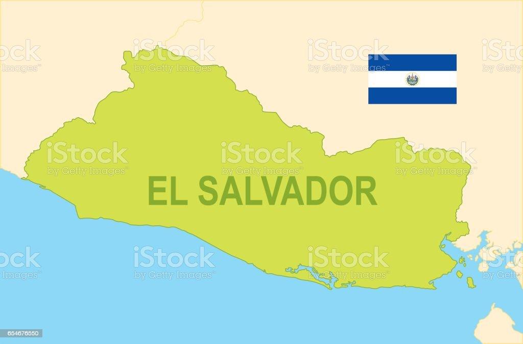 Flat Map Of El Salvador With Flag Stock Illustration ... Map De El Salvador on el gouna egypt map, de france map, de monaco map, el pueblo de los angeles map, tuxtla gutierrez mexico map, de florida map, el paraiso honduras map, el monte ca street map, el nido palawan philippines map, de israel map,