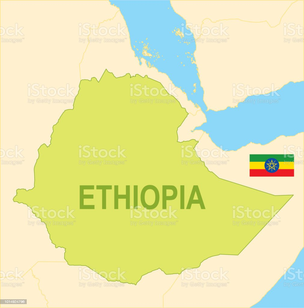 Map of ethiopia world map with latitude and longitude university of flat map of ethiopia with flag stock vector art more images of flat map of ethiopia gumiabroncs Choice Image