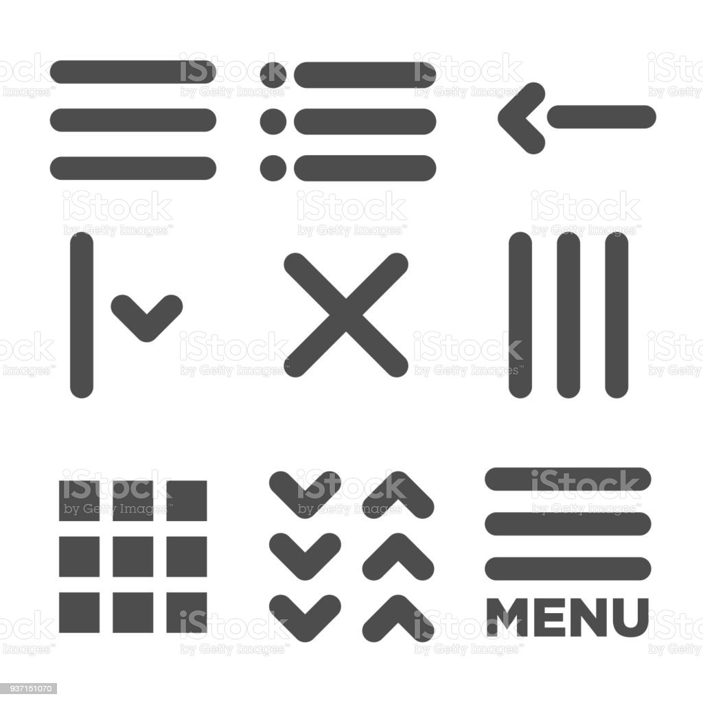 Flat Menu Icon Illustration