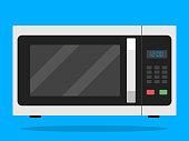 istock Flat Microwave icon Vector 1098309704