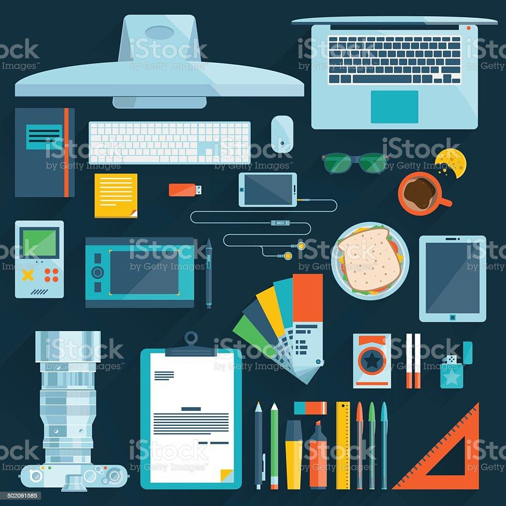 Flat modern design vector illustration concept vector art illustration