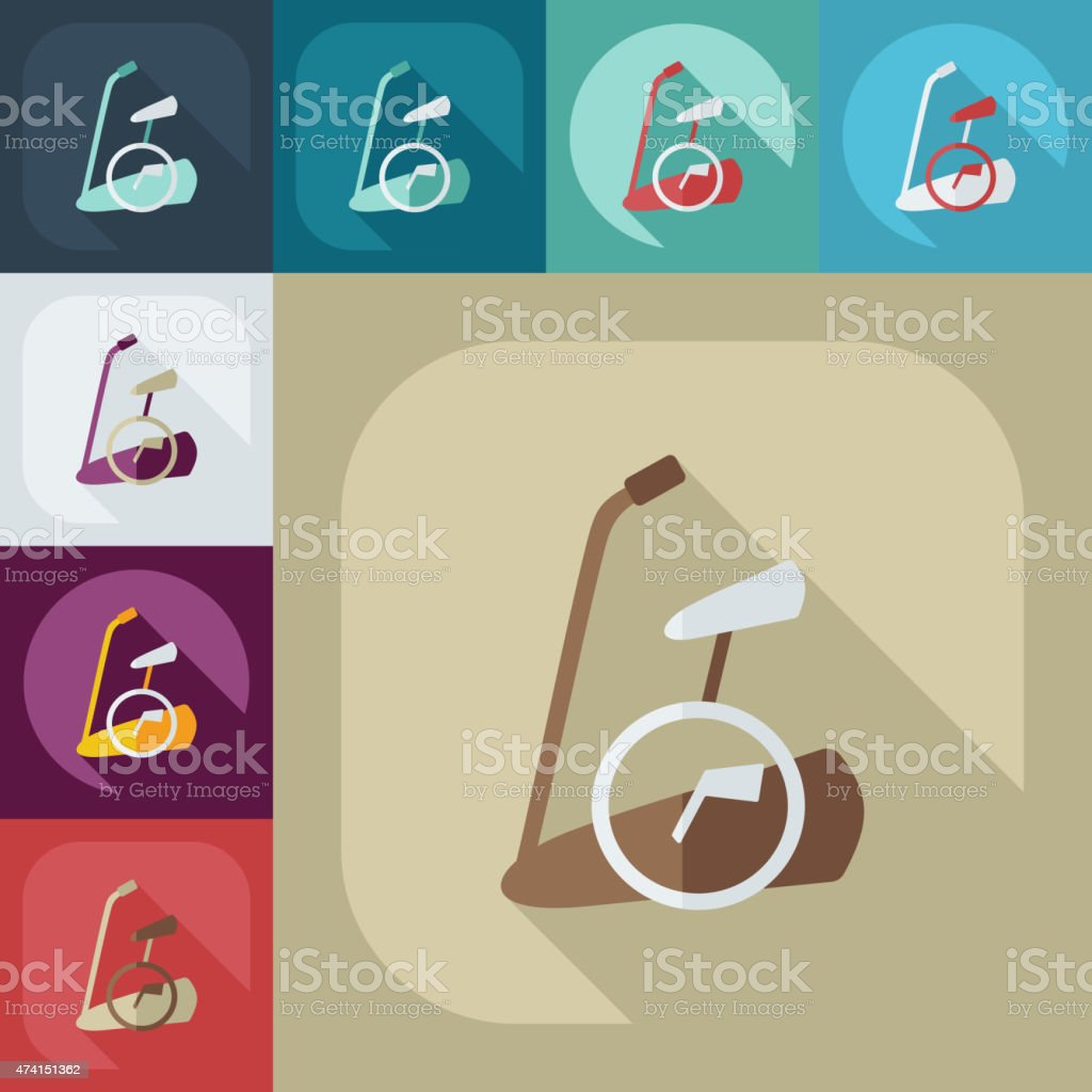 Flat modern design with shadow icon exercise bike