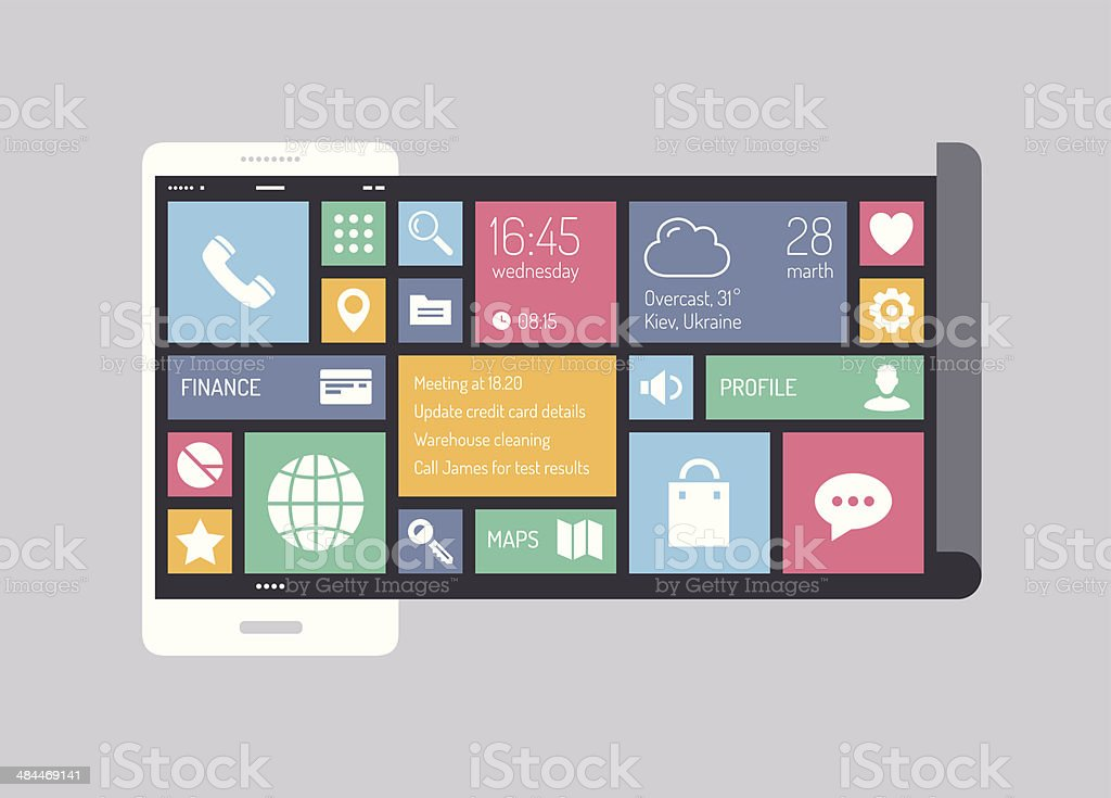 Flat Modern Mobile User Interface Concept Stock Illustration Download Image Now Istock