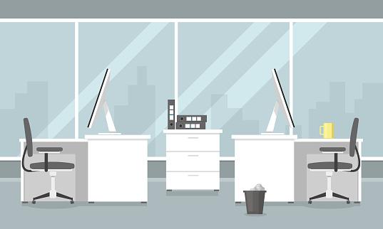 Flat Office Illustration Icon Vector