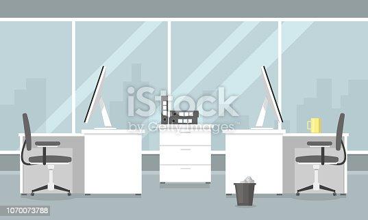 istock Flat Office Illustration Icon Vector 1070073788