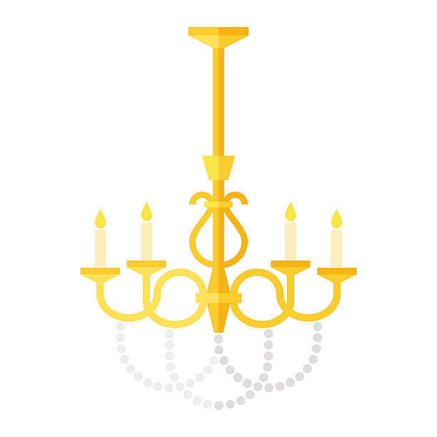 Royalty free chandelier clip art vector images illustrations istock flat old fashioned chandelier vector art illustration aloadofball Gallery