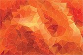 Flat Orange Polygonal Background