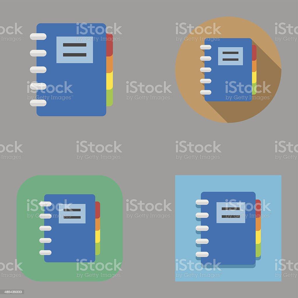 Flat Organizer icons | Kalaful series vector art illustration