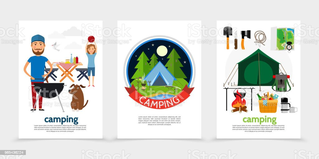 Flat Outdoor Recreation Posters flat outdoor recreation posters - stockowe grafiki wektorowe i więcej obrazów baner royalty-free