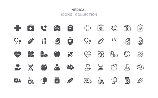Flat & Outline Medical Icons