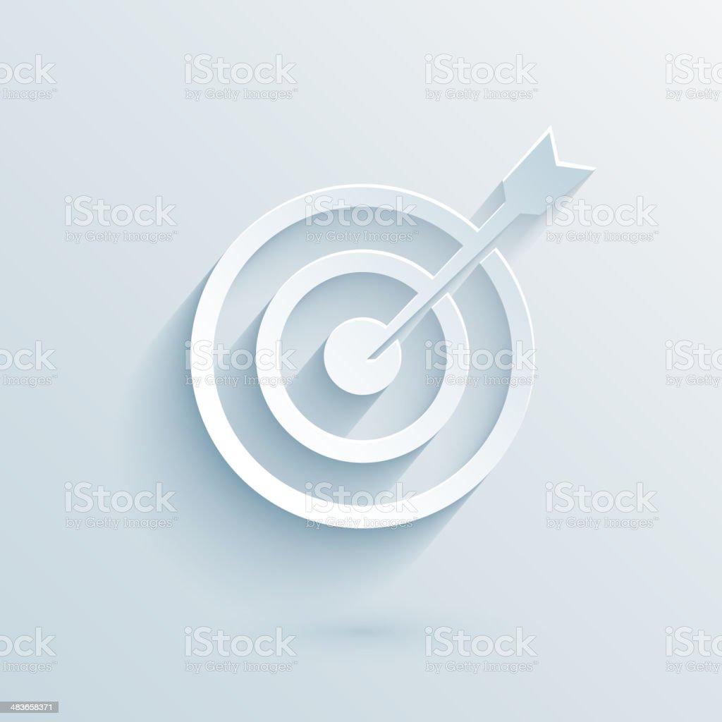 flat paper target vector art illustration