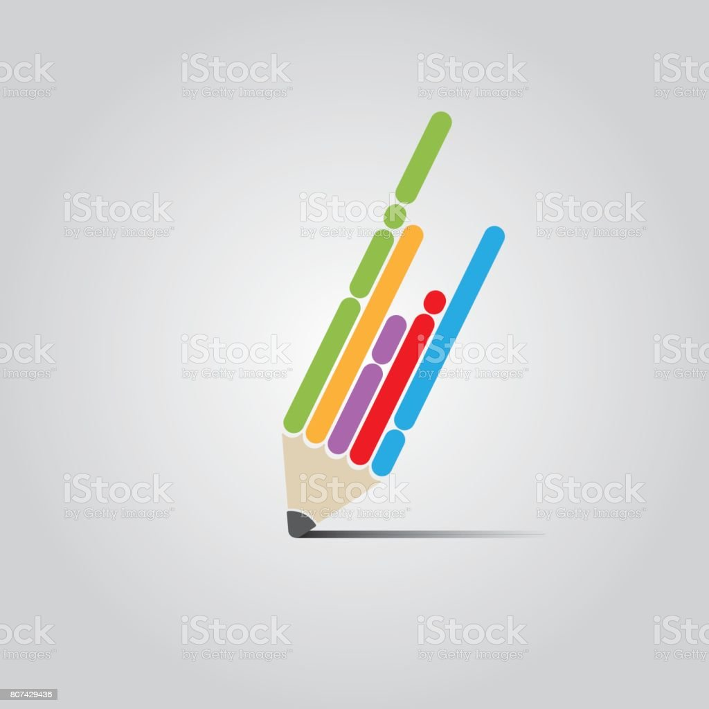 Flat Pen Design vector art illustration