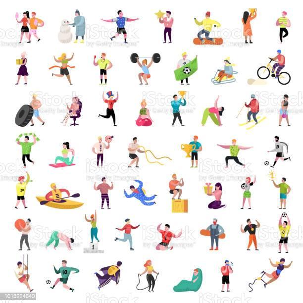 Flat people characters collection man and woman cartoons in various vector id1013224640?b=1&k=6&m=1013224640&s=612x612&h=cjbx4gecdzubfdb5ykyeujqk9qzwzjpgzywij9f5nqa=