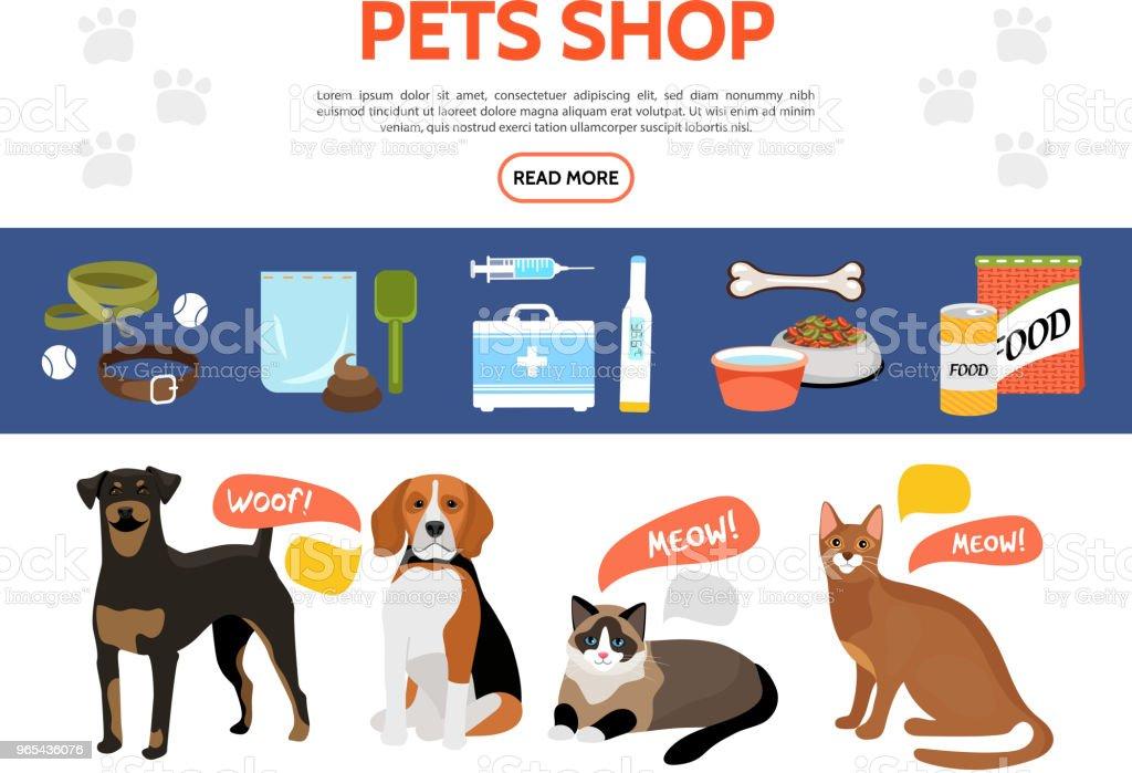 Flat Pet Shop Elements Collection royalty-free flat pet shop elements collection stock vector art & more images of animal