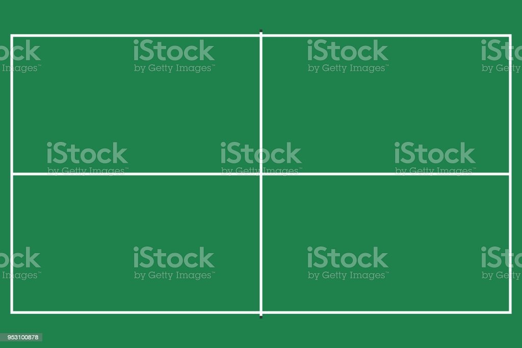 Flat Pin Pong Table Top View Of Ping Pong Field With Line Template Vector  Stock Vector Art U0026 More Images Of Backdrop 953100878 | IStock