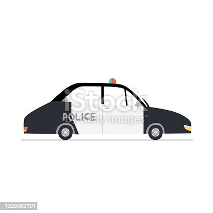 istock Flat police car vector illustration 1325062101