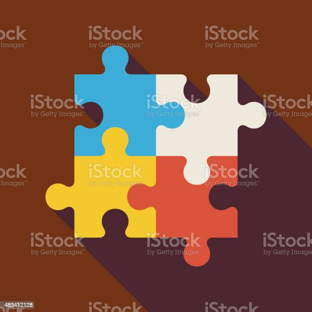 Flat puzzle illustration with long shadow vector id483412128?b=1&k=6&m=483412128&s=612x612&h=2o6dmakvqar3 gfxlwit18knfnzaavansw3xdwm9b84=