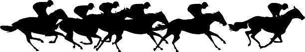 평편 리우로 - horse racing stock illustrations