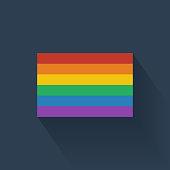 Flat rainbow flag