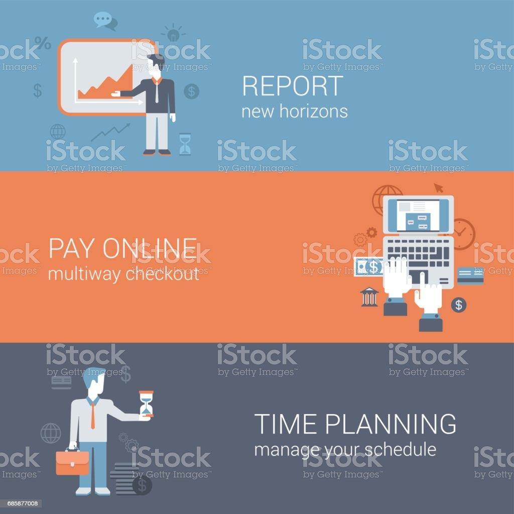 Ilustración de Planos Presentación De Informe Pago Por Internet ...