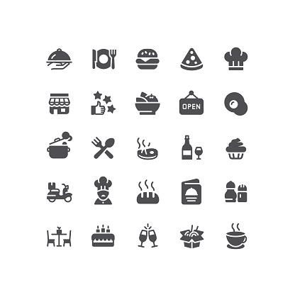Flat Restaurant Icons