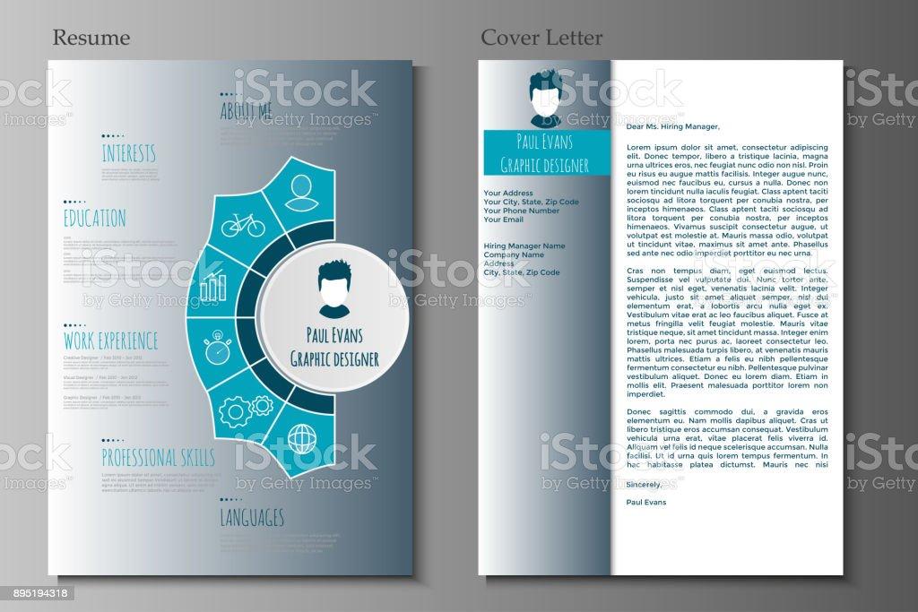 Flat Resume Infographic Design Stock Illustration Download Image