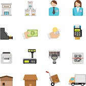Flat Retailing icons | Simpletoon series