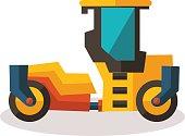 flat road roller in vector format, eps10