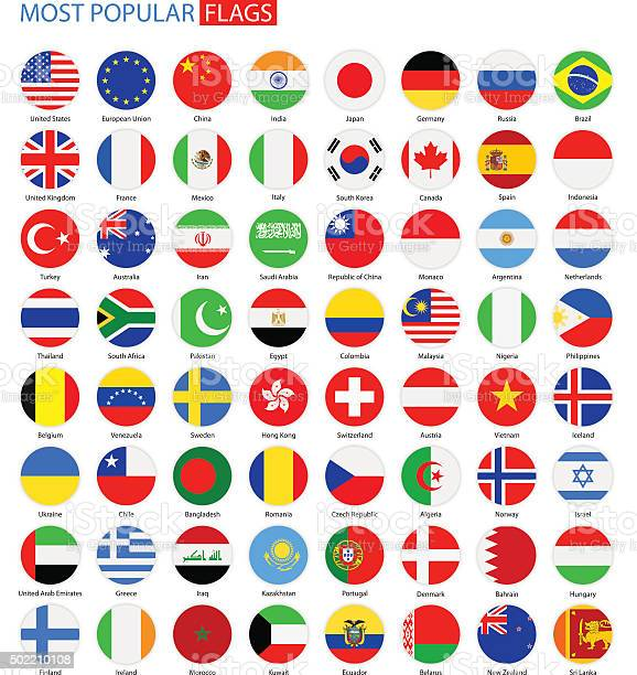 Vector Set of National Flag Icons