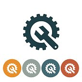 Flat Round Website Icons. Simple flat colored silhouette. Simple silhouette style symbols. Technical Support