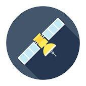 istock Flat Satellite Icon 501794225