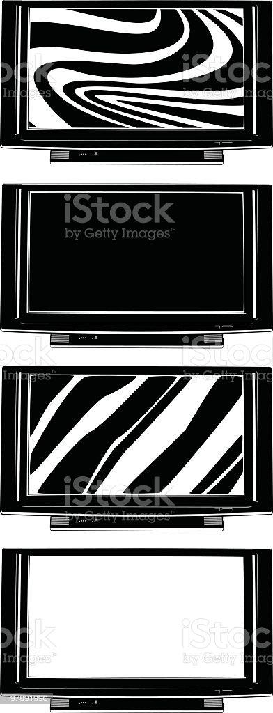 Flat screen TV royalty-free flat screen tv stock vector art & more images of arrangement