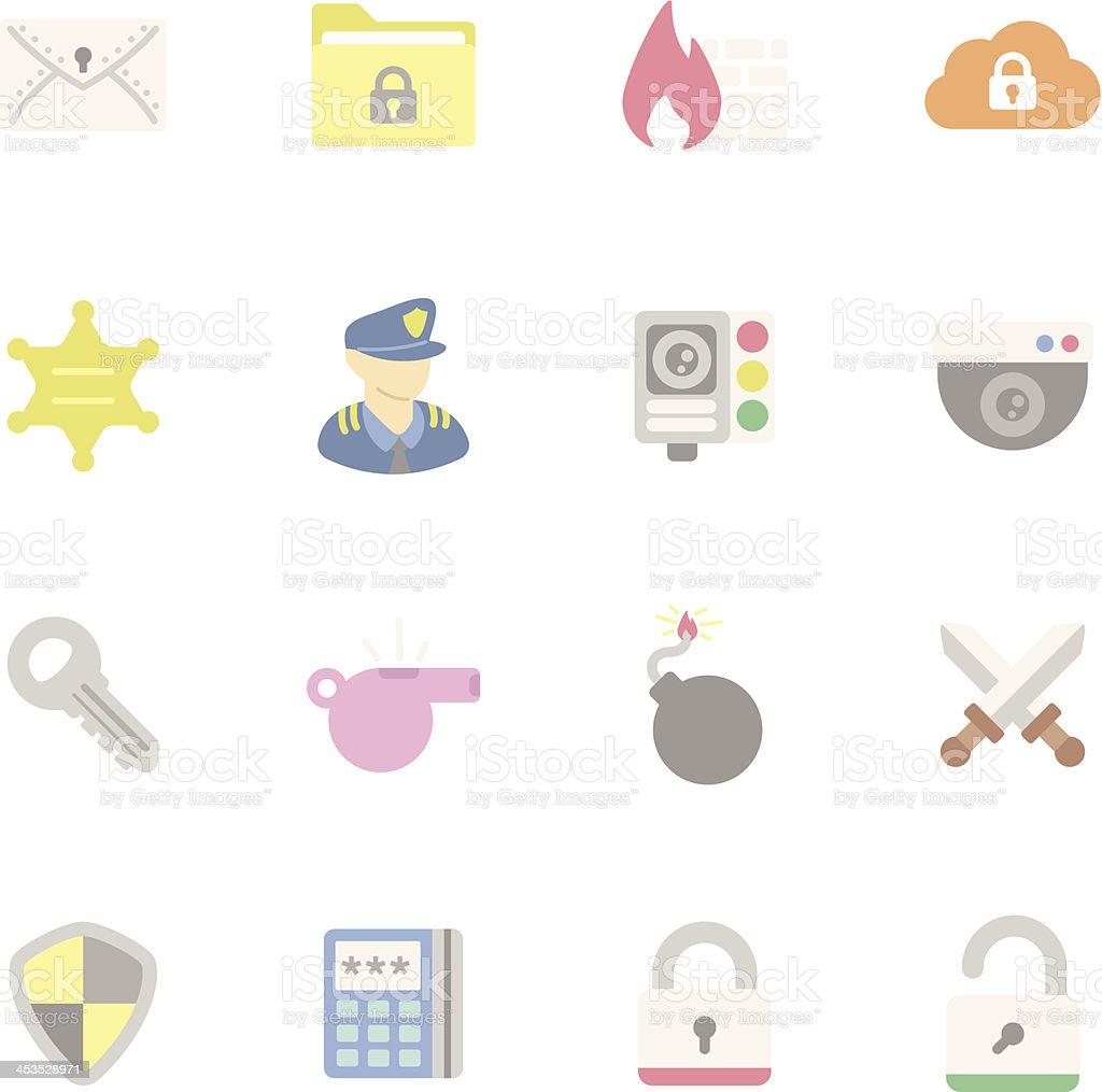 Flat | Security royalty-free stock vector art