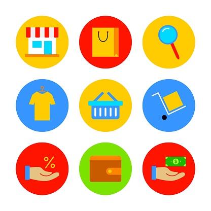 Flat Shop Icon Set