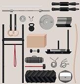 Flat sport equipment