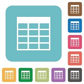 Flat Spreadsheet table icons