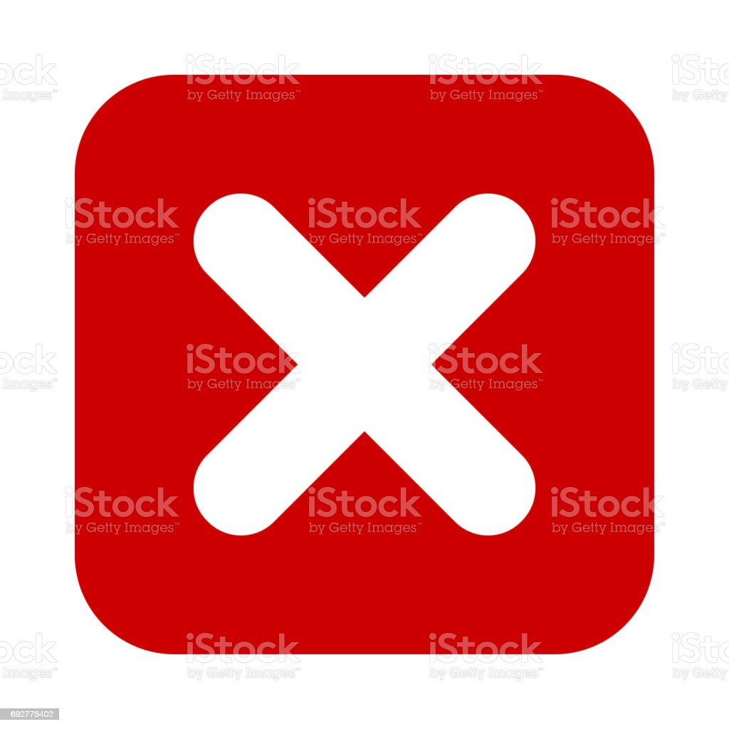 Flat square x mark red icon button cross symbol stock vector art flat square x mark red icon button cross symbol royalty free flat buycottarizona