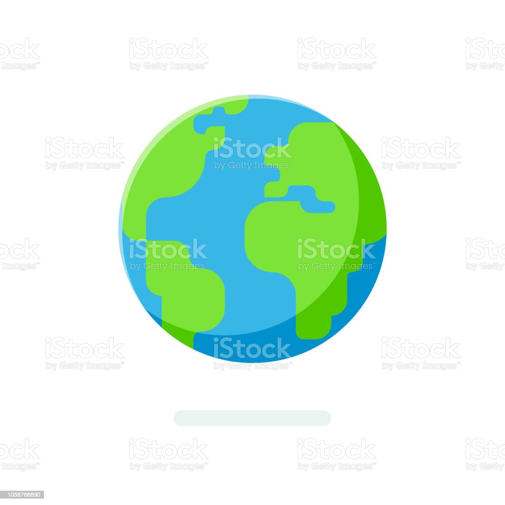 Flat Style Earth Globe Icon Spherical World Map Isolated On ... on business map, apartment map, home map, land map, projection map, wall map, treasure map, red map, plate map, tube map, fake map, big map, full map, large map, classic map, thematic map, antarctica map, empty map,