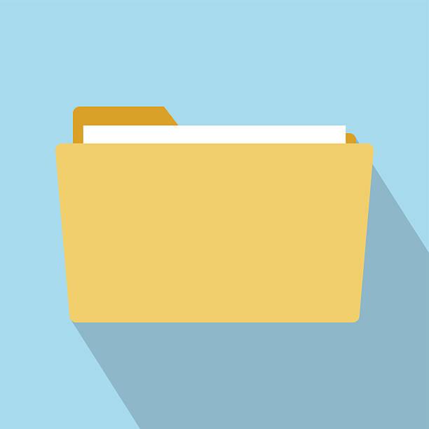 Flat Style Folder Icon vector art illustration