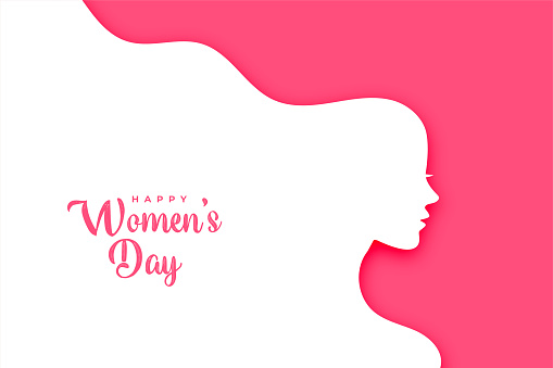 flat style happy women's day creative card design