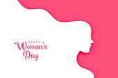 istock flat style happy women's day creative card design 1303144497