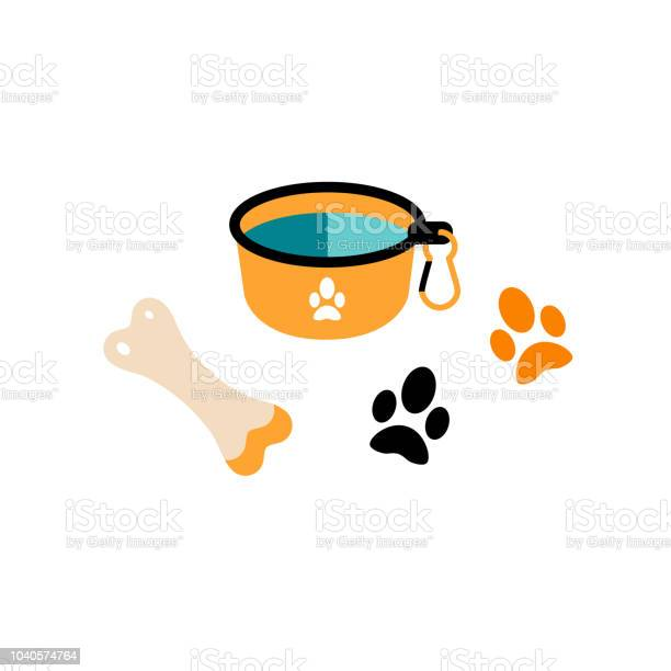 Flat style icons of portable plate for pet bone tracks vector id1040574764?b=1&k=6&m=1040574764&s=612x612&h=drdfzgi ekepi4cu611wtvnvblk7oeig6oigqjhwo6u=