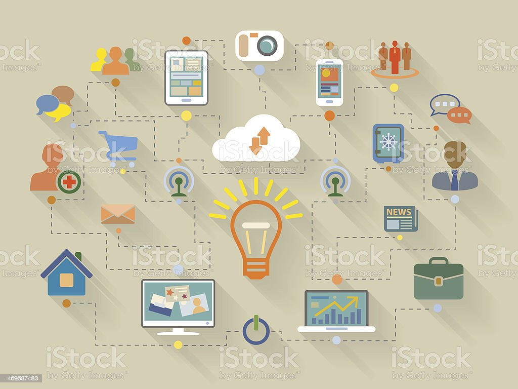 Flat style illustration of website analytics search information concept royalty-free flat style illustration of website analytics search information concept stock vector art & more images of abstract