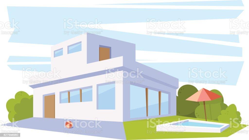 Casa moderna desenho como desenhar uma casa moderna e for Casa moderna vector